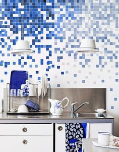 Pixel decor: wall mural for kitchen walls | PixerSize