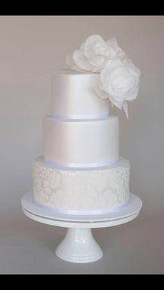 Wafer paper wedding cake
