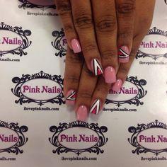 Pink Retro Nails