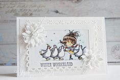 Cards made by Wybrich Christmas Cards, Xmas, Marianne Design, Card Making Inspiration, Copic, Winter Wonderland, Daisy, Frame, Coloring