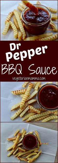 Mouthwatering Dr Pepper BBQ Sauce is perfect for dipping!