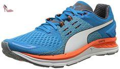 Puma Speed 1000 S IGNITE - Chaussures de Course - Mixte Adulte - Multicolore (Quarry/AtomicBleu/White) - 45 EU (10.5 UK) - Chaussures puma (*Partner-Link)