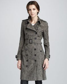 Lace Trenchcoat by Burberry London at Bergdorf Goodman. $1995