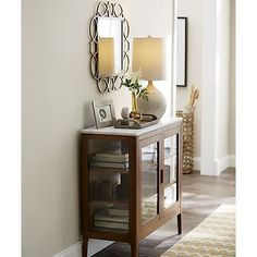 Nash Entryway Cabinet | Crate and Barrel SKU: 669600 $699.00 glass ...