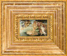 La Pastiche Sandro Botticelli 'Birth of Venus' Pre-Framed Miniature Print on Canvas, Gold Classic Home Decor, French Home Decor, Classic House, Buy Canvas, Canvas Art, Canvas Prints, Italian Renaissance, Renaissance Art, French Paintings