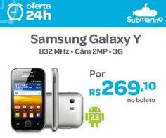 Smartphone Samsung Galaxy Y Desbloqueado Prata - Android Processador 832MHz Tela Touch 3