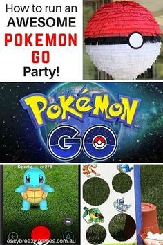 Pokemon Go Party Ideas - treasure hunt for Pokemon, hatching eggs race