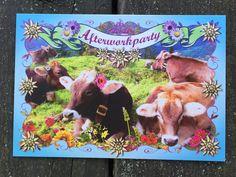Postkarte und Einladungskarte