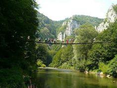 romania suspended-bridge-over-nera-beautiful-romanian-natural landscape rivers romanians cheile nerei Brasov Romania, Visit Romania, The Beautiful Country, Bucharest, Rafting, Wonderful Places, National Parks, Landscape, World
