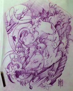Kitsune backpiece concept ninja sketch.  #japanese #inkedmag #art_motive #tattoo #tatuaz #tattoosnob #inked_fx #superb_tattoos #superbtattoos #instagood #tattooistartmag #pictureoftheday #artist #art #ink #tattoos #inkmagazine #custom #crazytattoos #customtattoo #customdesign #inkfreakz #the_inkmasters #japanesetattoosub #supportgoodtattooers #irezumicollective  #japanesetattoo #tattoo #tattooed #love  #colortattoo @polandtattoos @worldfamousink @fkirons @inkjecta @japanesetattoo…