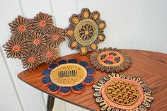 Retro wicker trivets are ripe for repurposing: wall art, anyone? #etsyfinds #etsyvintage