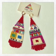105 отметок «Нравится», 7 комментариев — Carmen & Julia Joyas Tejidas (@carmenyjulia) в Instagram: «Another pair goes... #theartofmaking #sacred #bauhaus #crafts #statementearrings #weave #handmade…»