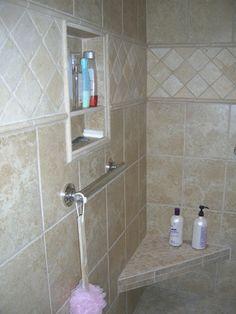 245 Best Bathroom Shelves Niche Images Shower Niche