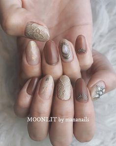 Instagram Classy Nails, Stylish Nails, Fancy Nails, Cute Nails, Pretty Nails, Minimalist Nails, Fall Nail Art Designs, Nail Polish Designs, Perfect Nails