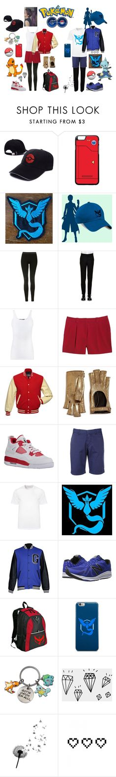 """""""Pokémon GO"""" by bambam7a1 ❤ liked on Polyvore featuring Valor, Topshop, Alexander McQueen, Vince, Canvas by Lands' End, Gucci, FAY, Versace, GaÃ«lle Bonheur and New Balance"""
