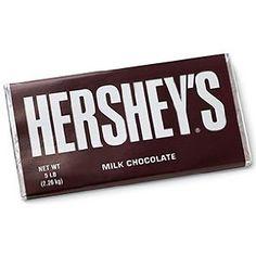 5 lb Hershey Milk Chocolate Candy Bar!