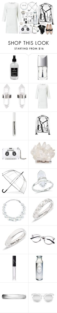 """""""Are We Clear?"""" by darksyngr ❤ liked on Polyvore featuring Little Barn Apothecary, Christian Dior, Amber Sceats, Samsøe & Samsøe, BBrowBar, Wanda Nylon, Chanel, Kathryn McCoy Design, ShedRain and DIANA BROUSSARD"""