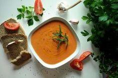 Salmorejo – hiszpański chłodnik zupa krem z pomidorów i chleba Souped Up, Thai Red Curry, Dinner, Ethnic Recipes, Food, Cooking, Baking Center, Food Dinners, Koken