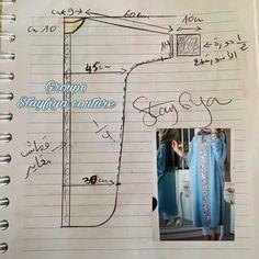 Abaya Style 550424385702110489 - Source by hafidabensen Easy Sewing Patterns, Clothing Patterns, Dress Patterns, Kaftan Pattern, Sewing Blouses, Abaya Designs, Fashion Sewing, Sewing Hacks, Abaya Style