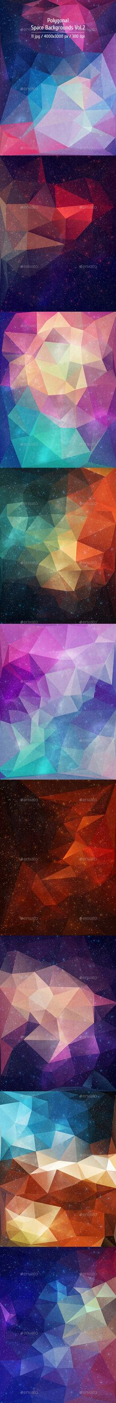 Polygonal Space Backgrounds. Download here: http://graphicriver.net/item/polygonal-space-backgrounds-vol2/10918101?ref=ksioks