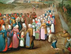 Circle of Pieter Brueghel the Younger (1564–1638)   I'd actually put it earlier - it's more 1550's/1560's based on the dress styles.  Look at all the colors!  Pinks, reds, teals, violet, and greens!