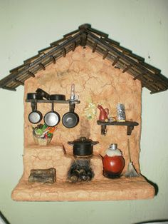 Diy Crafts Slime, Craft Stick Crafts, Clay Crafts, Diy And Crafts, Mini Doll House, Toy House, Diy Dollhouse, Dollhouse Miniatures, Clay Wall Art
