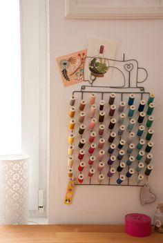 Sewing room decor items
