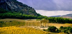 So you drive for hours in the middle of nowhere and then you see this perfectly preserved Doric Greek Temple and you tell yourself once again that Sicily is the most amazing place on Planet Earth.(Segesta Temple, Trapani, Sicily).