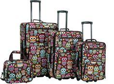 103.54  Rockland Luggage Safari 4 Piece Luggage Set OWL - via eBags.com!