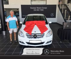 Congratulations to Mr. van Zyl on purchasing his We thank you and wish you many happy miles ahead from sold by Ryno - 044 802 Daimler Ag, Certified Pre Owned, Luxury Cars, Baby Car Seats, Mercedes Benz, Congratulations, Automobile, Van, Happy