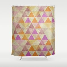 Pyramides Shower Curtain