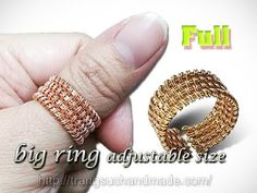 How to design unisex ring adjustable size - DIY wire rings - full version ( slow ) 307 Handmade Wire, Handmade Jewelry, Tutorial Anillo, Wire Jewelry Rings, Wire Bracelets, Jewelry Tree, Jewellery, Wire Wrapped Earrings, Wire Earrings