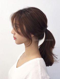 Bangs With Medium Hair, Medium Hair Cuts, Long Hair Cuts, Medium Hair Styles, Long Hair Styles, Medium Length Cuts, Korean Wavy Hair, Asian Short Hair, Korean Haircut Long