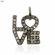 13*11mm Diamond Pave Love Pendant Sterling Silver Fashion Jewelry Socheec. $90.00. Fashion Love Pendant. Sterling Silver Love Pendant. Diamond Pave Love Pendant. 13*11mm Size Love Pendant