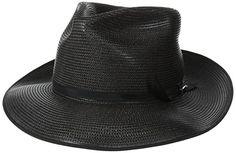 Stetson Men's Stratoliner Florentine Milan Straw Hat, Black, 7.125 Cowboy Hat…