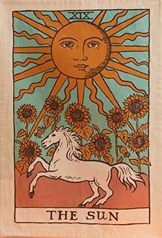 Tapestry Bedroom, Tapestry Wall Hanging, The Sun Tarot Card, Vintage Tarot Cards, Sun Drawing, Art Hoe Aesthetic, Retro Poster, Sun Art, Poster Prints