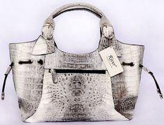 victoria secret purses and bags | Ivory Twotone Vintage Crocodile Designer Handbags...