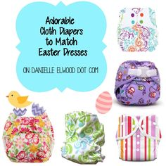 Adorable Cloth Diapers for Easter