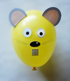 Free Balloon Animal Rat Template