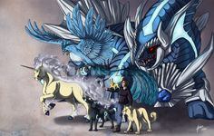 Pokémon Fan Art / Commission: Leiden's Team by ShadeofShinon.deviantart.com on @DeviantArt