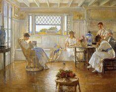 Edmund Charles Tarbell  fue un pintor estadounidense de estilo impresionista.   Su obra contribuyó a una amable representación de un determ...