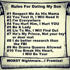 Dating my son funni, sons, rule, true, babi, boy, quot, mom, kid