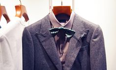 LOOK 1 - Lanvin Short Button Jacket £490.00 || Lanvin Alber Bow Tie £100.00 || Lavin Fitted Shirt £220.00