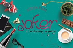 Joker Handmade Typeface by Font & Graphic Land on @creativemarket