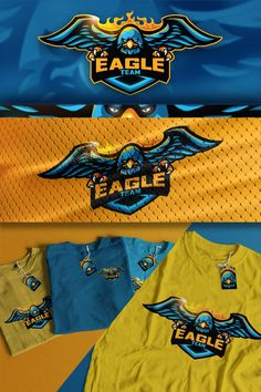 This is a eagle mascot logo that can be applied on sports gear and esports. It can be modified for alternative colors and different text feel free to check. Eagle Mascot, Team Mascots, Esports Logo, Youtube Logo, Game Logo, Animal Logo, Badge, Alternative, Logo Design
