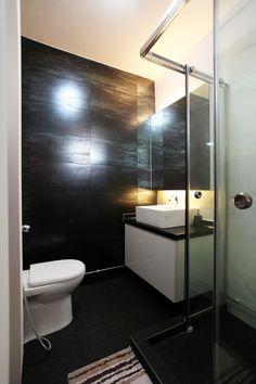 Z l construction singapore hdb bathroom with glass shower divider and door bathrooms Modern bathroom design singapore