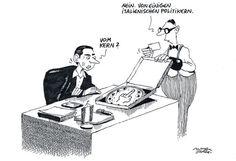 """OÖN-Karikatur vom 22. Juli 2017: """"Pizza Lampedusa"""" Mehr Bilder auf: http://www.nachrichten.at/nachrichten/karikatur/ (Bild: Mayerhofer)"""