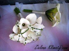 zielone klimaty - kwiaty Lublin: Dekoracja ślubna z kantedeski i lilii