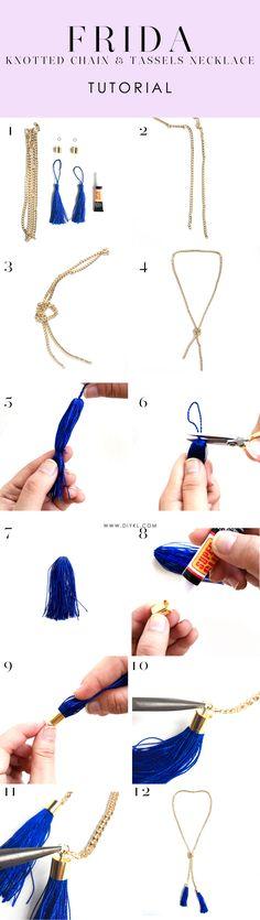 DIYKL FRIDA Knotted Chain & Tassels Necklace. Shop corresponding DIY kits from DIYKL (www.diykl.com)! Enjoy worldwide shipping.
