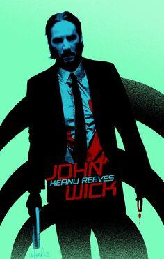 John Wick #Action #Adventure #Movie #Poster #Art